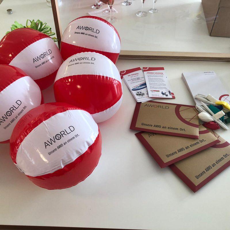 Best Practice perlrot Give away Intranet AWORLD der AWO Unterfranken